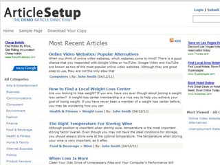 ArticleSetup – Article Directory Script