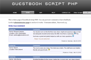 GuestBook Script PHP