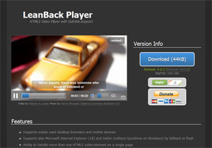 LeanBack Player – HTML5 Video Player
