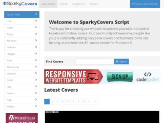 SparkyCovers – Facebook Covers PHP Script