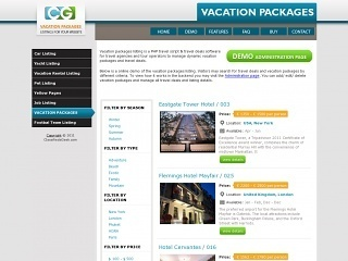 StivaSoft Vacation Packages Script